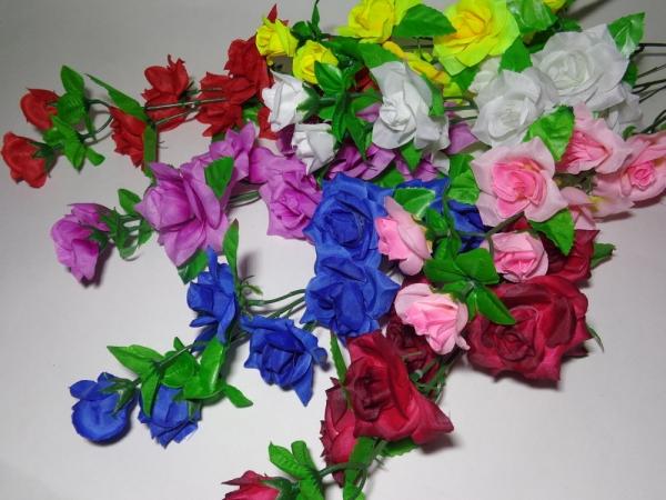 В0213 Ветка розы каскад 8г. Н=55см (10/70 микс)