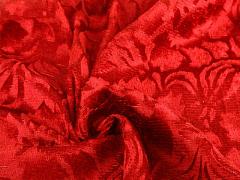 Р0176 Ткань бархат с набивным рисунком шир 150см (уп-100м)