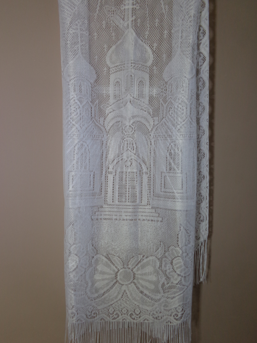 Р0042 Покрывало тюль с храмом 80/210