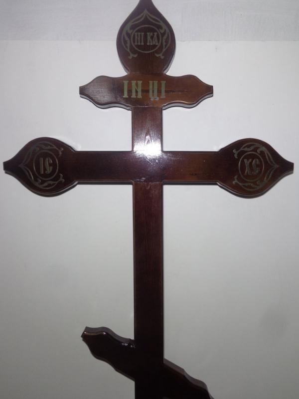 """Р0086 Крест """"Купола"""" темный (сосна) Н=210см"""