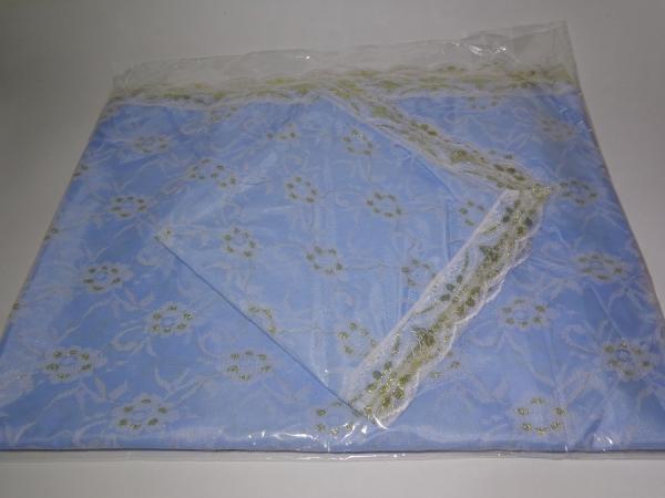 Р0177 Комплект шелк с гипюром (покрывало+наволочка)